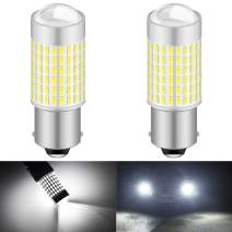 KATUR 1156 P21W 7506 BA15S LED Bulb High Power 3014 Chips Extremely Bright 3000 Lumens 6500K Xenon White Replace for Back up Reverse Brake Tail Turn Signal Lights,(Pack of 2)