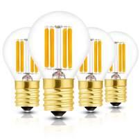 Hizashi Super Mini Globe S11 LED Light Bulb, Dimmable, 4W E17 Intermediate Base 40S11 LED Filament Replacement Bulb, 40 Watt Equivalent, Warm White 2700K for Cabinet, Closet, Desk Lamp - 4 Pack
