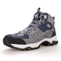 Men's Fur Lined Hiking Boots Winter Warm Water Repellent Outdoor Sport Shoes Walking