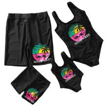 IFFEI Mommy and Me Matching Swimwear One Piece Mother Daughter Monokini Bathing Beach Wear