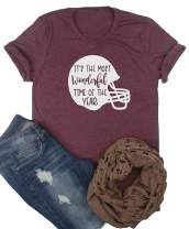 Women It's The Most Wonderful Time of The Year Football T-Shirt Top Shirt