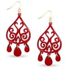 ZENZII Colorful Acrylic Resin Dangle Drop Earrings for Women
