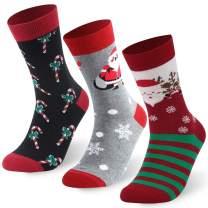 J'colour Holiday Socks, Unisex Novelty Fun Christmas Cute Cartoon Crew Socks