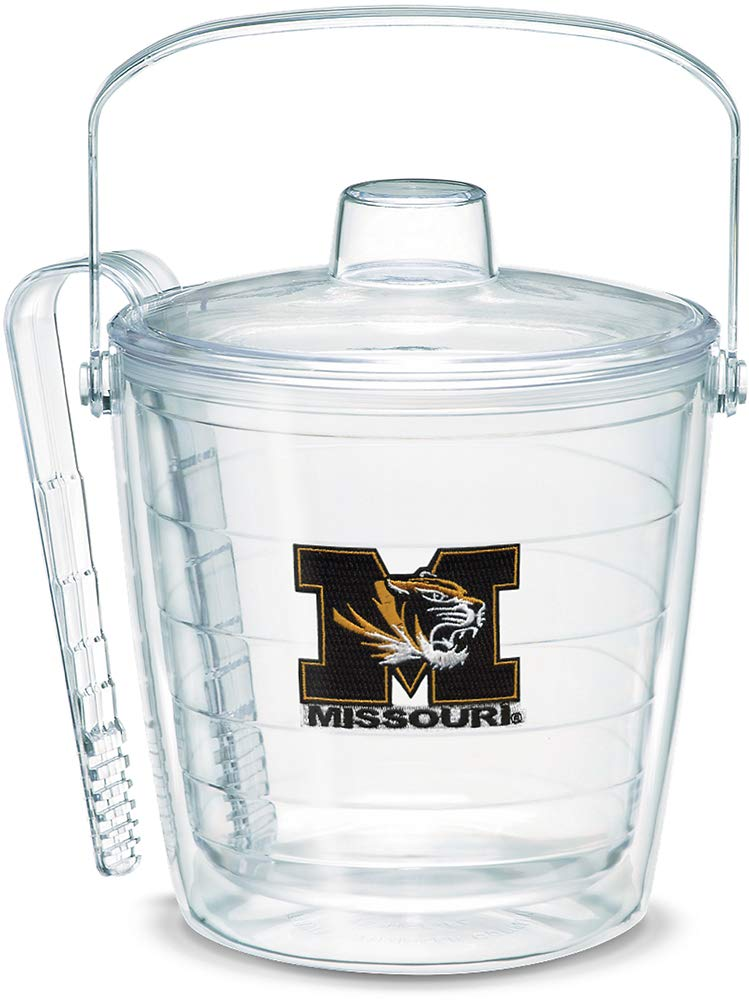 Tervis 1053426 Missouri Tigers Logo Ice Bucket with Emblem and Clear Lid 87oz Ice Bucket, Clear