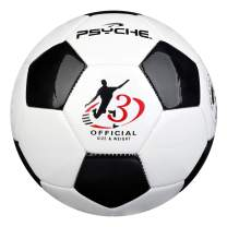 Wisdom Leaves Soccer Ball Size 3.4.5 for Training Practice Outdoor/Indoor Soccer Balls for Kids/Children/Teenager/Adults,Black White