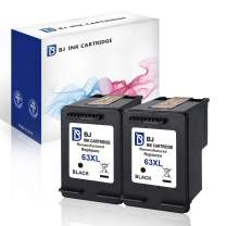 BJ Remanufactured Ink Cartridge Replacement for HP 63XL 63 XL (2 Black) Compatible with HP DeskJet 1110 2130 2132 3630 3633 3636 HP Envy 4512 4516 4520 HP OfficeJet 3830 3832 4650 4655