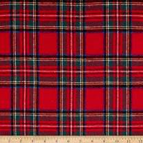 Newcastle Fabrics Yarn Dyed Flannel Plaid Red Fabric By The Yard