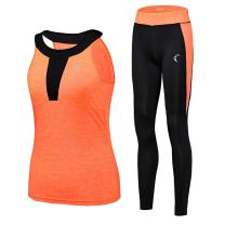 J.CARP Tracksuit for Women Yoga Workout Fitness Running Athletic Sports Gym Tank Top Pant 2 Piece Set, 5 Colours Selection