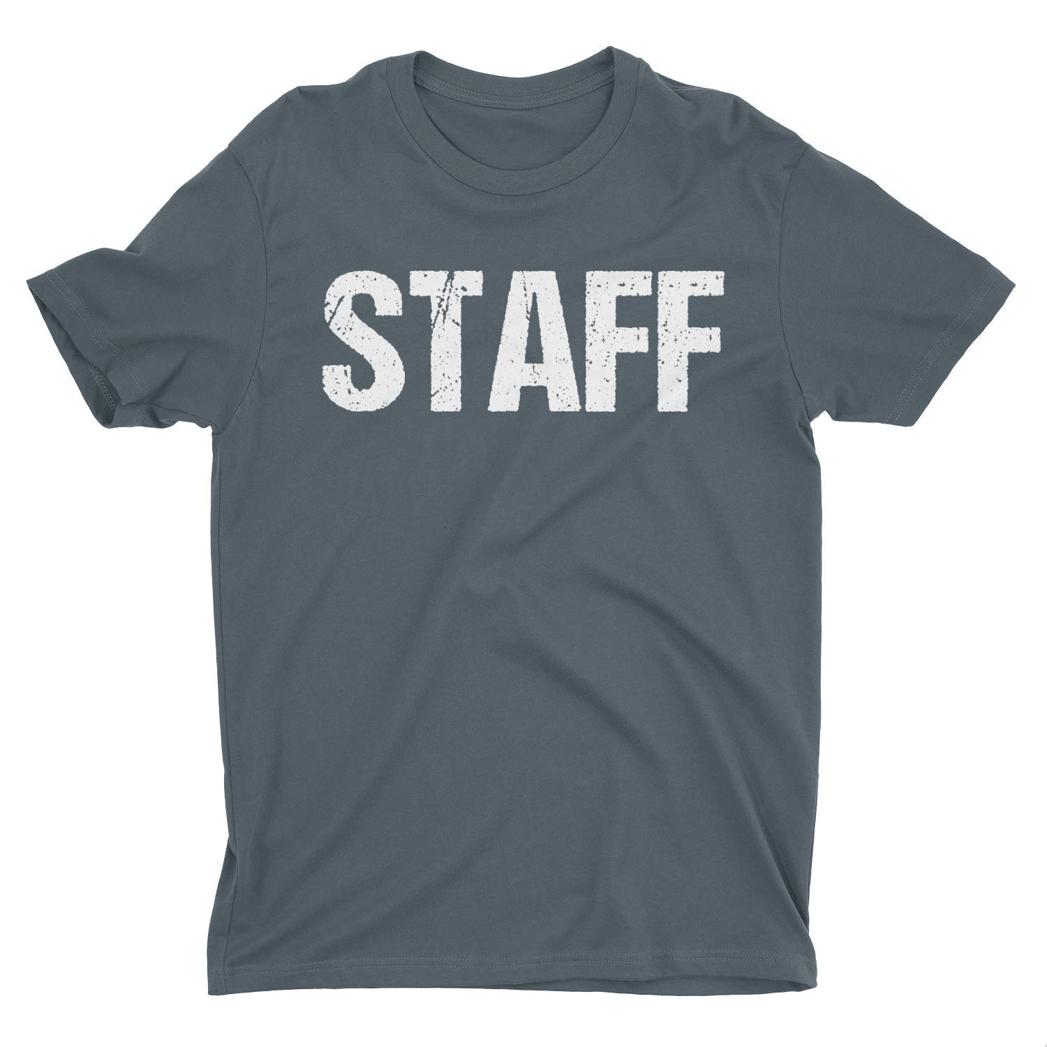 NYC FACTORY Men's Staff T-Shirt Charcoal Mens Tee Event Shirt Front & Back Screen Printed