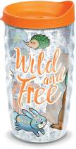 Tervis Wild Woodland Animals Insulated Tumbler with Wrap and Lid, 10 oz Wavy - Tritan, Clear