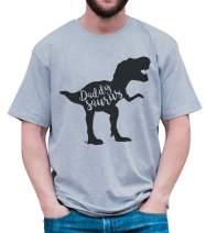7 ate 9 Apparel Men's Daddysaurus Dinosaur T-Shirt