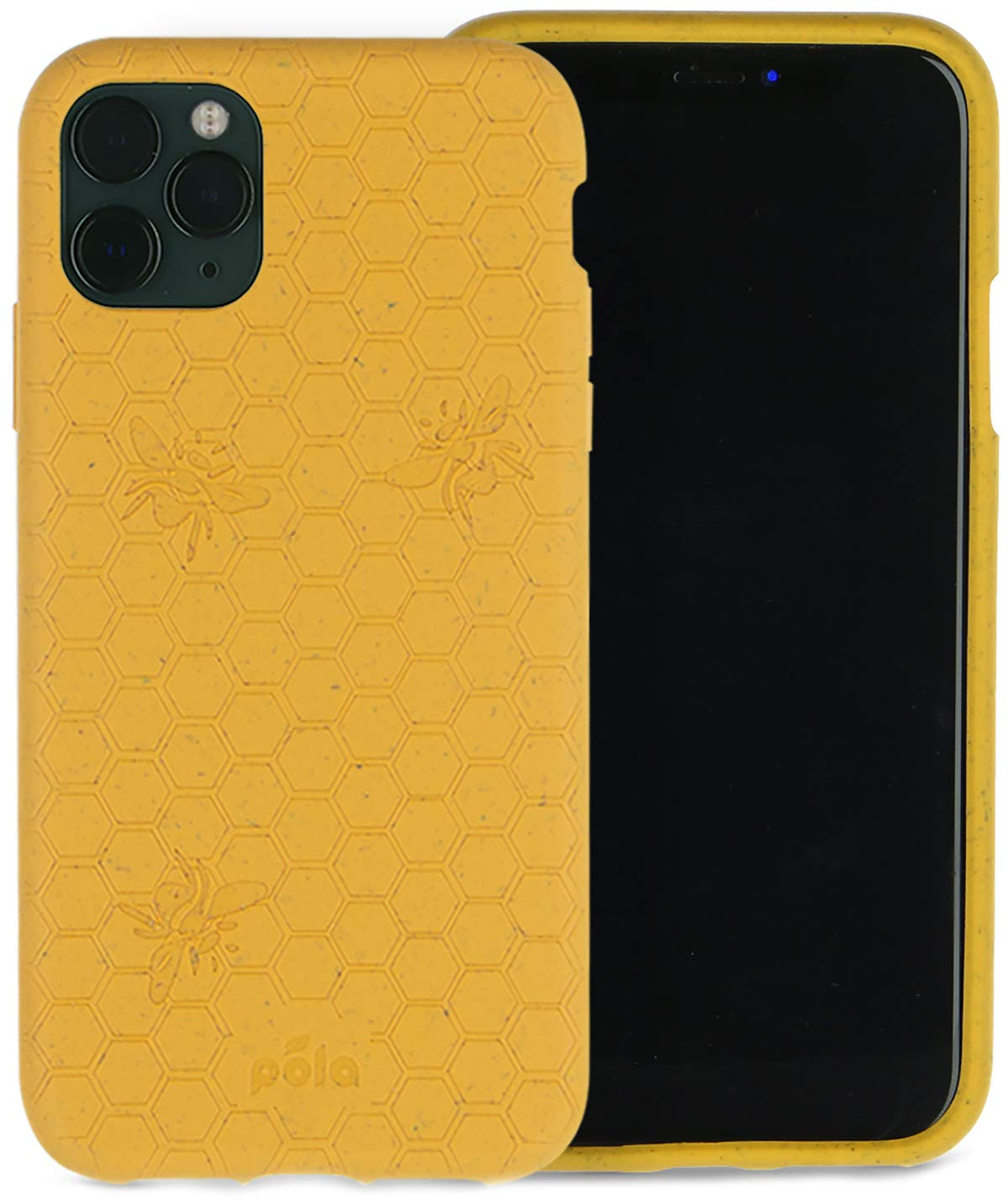 Pela: Phone Case for iPhone 11 Pro - 100% Compostable and Biodegradable - Eco-Friendly - Made from Plants (11 Pro Honey Bee)