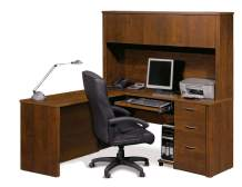 Bestar L-Shaped Desk with Pedestal and Hutch - Embassy