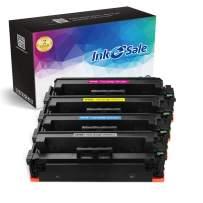 INK E-SALE Compatible Toner Cartridge Replacement for HP 410X CF410X CF411X CF412X CF413X (KCMY, 4-Pack), for use with HP Color Laserjet Pro MFP M477fdn M477fdw M477fnw,Pro M452dn M452nw M452dw M377
