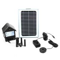 Sunnydaze 5W Solar Powered Water Pump and Panel Kit with Battery Pack and LED Light, 56-Inch Lift, Use for Outdoor Fountain, Bird Bath, or Pond