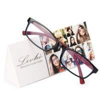 Livho Blue Light Blocking Reading Glasses,Readers Eyeglasses Anti Glare Eyestrain Lightweight for Men Women