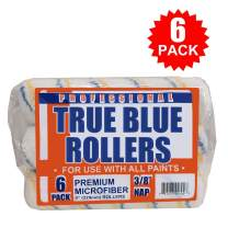 "True Blue Professional Paint Roller Covers, Best for All Types of Paint (6, 3/8"" Nap)"