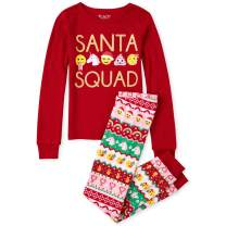 The Children's Place Girls' Big Long Sleeve Christmas Pajama Set