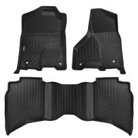 VIWIK Floor Mats for 2019-2020 Dodge Ram 1500 Crew Cab, TPE Front and Rear Floor Liner Set for Dodge Ram 1500 Crew Cab, Tough, Durable and Eco-Friendly, 100% Safe