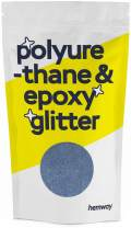 Hemway Metallic Glitter Floor Crystals for Epoxy Resin Flooring (500g) Domestic, Commercial, Industrial - Garage, Basement - Can be Used with Internal & External (Azure)