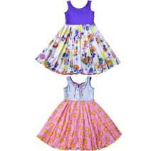 TwirlyGirl Purple Dress for Kids Girls The Original Reversible Flip & Twirl Fun