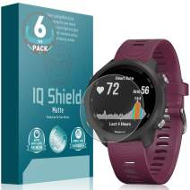 IQ Shield Matte Screen Protector Compatible with Garmin Forerunner 245 (6-Pack) Anti-Glare Anti-Bubble Film