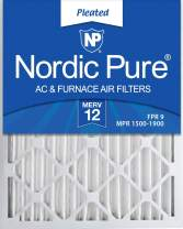 Nordic Pure 15x20x2 MERV 12 Pleated AC Furnace Air Filters 3 Pack, 3 PACK, 3 PACK