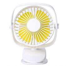 Tubeshine Mini Desk Clip Fan, Handheld Rechargeable USB Table Fans, Battery Operated, Portable Cool for Stroller Office Room Outdoor Household Travel (White)