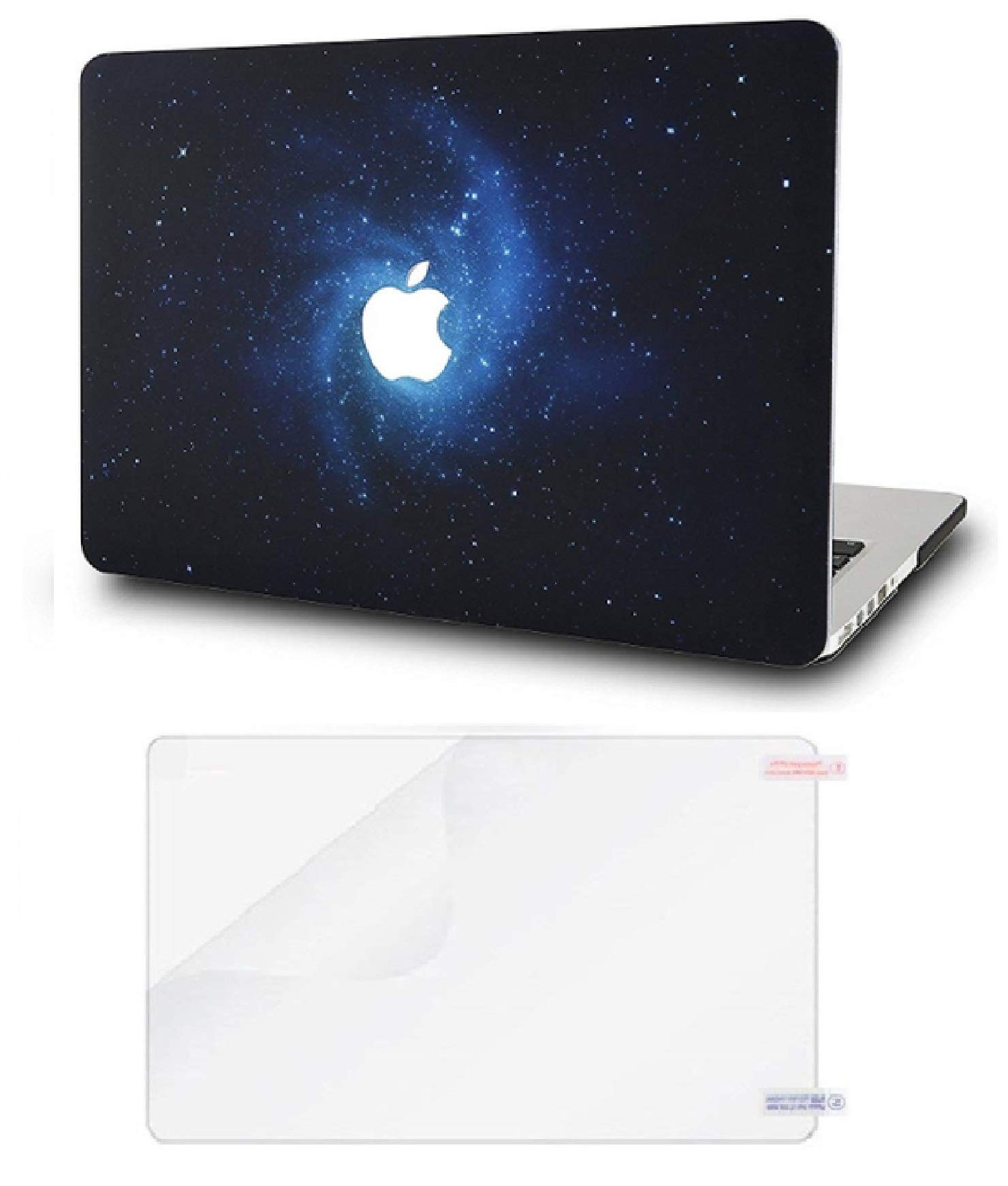 """KECC Laptop Case for MacBook Air 13"""" Retina (2020/2019/2018, Touch ID) w/Screen Protector Plastic Hard Shell Case A2179/A1932 2 in 1 Bundle (Blue)"""