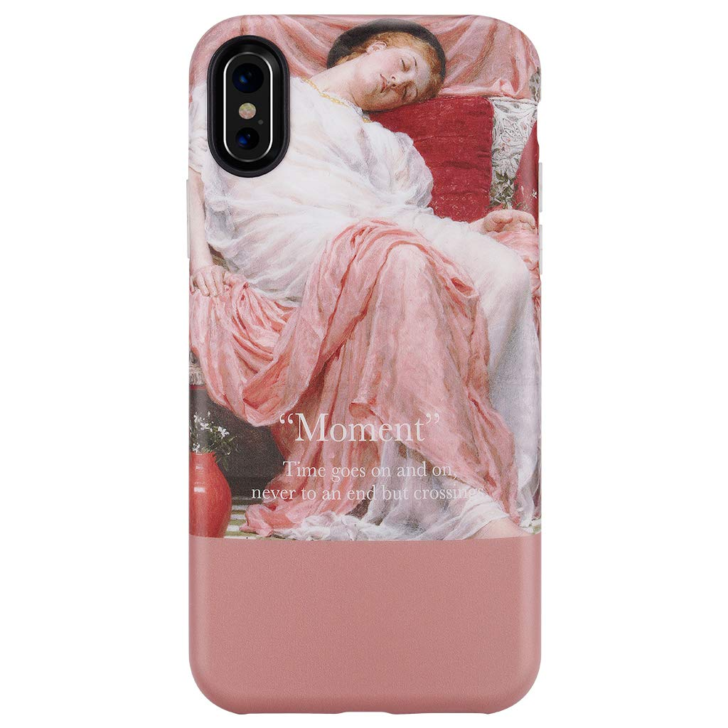 GOLINK Case for iPhone X Case/iPhone Xs Case,Matte Finish Oil Painting Series Slim-Fit Ultra-Thin Anti-Scratch Shock Proof Dust Proof Anti-Finger Print TPU Gel Case for iPhone X/Xs(Asleep Girl)