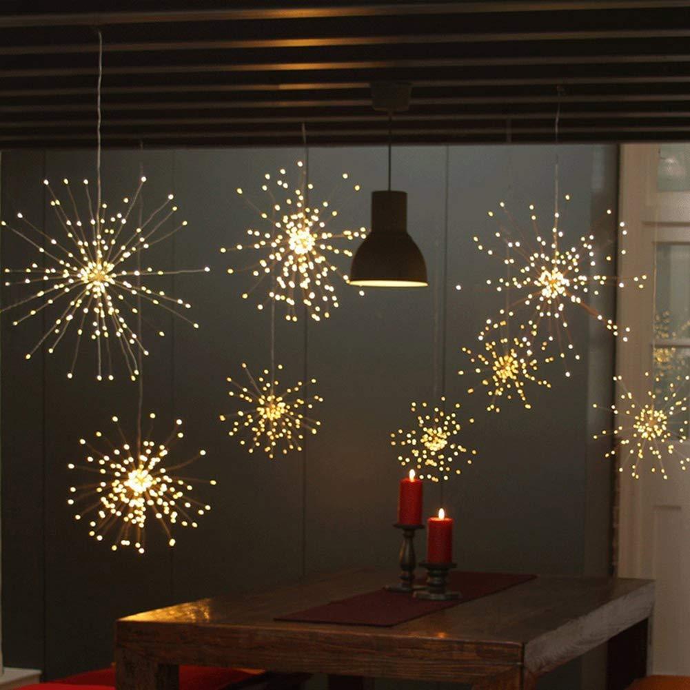 Hanging Star Fairy Lights LED String Light Bouquet Shape Firework Christmas