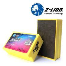 Z-Lion Electroplated Diamond Hand Polishing Pads Foam Back for Granite Marble Stone Glass Ceramic (400#)