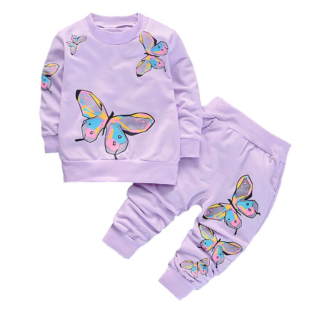 BABICOLOR Baby Girls Clothes Toddler Clothing Cute Baby Spring Fall Infant Outfits Tops+Pants 2pcs