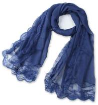 corciova Women's Long Lace Imitated Silk Scarf