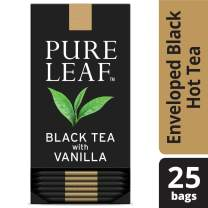 Pure Leaf Black with Vanilla Enveloped Hot Tea Bags Single Origin: Kenya, Made with Tea Leaves Sourced from Rainforest Alliance Certified Farms, 25 count, Pack of 6
