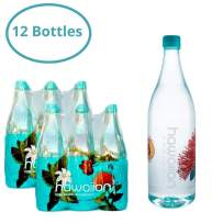 Hawaiian Springs- Volcanic Artesian Alkaline Bottled Water | Natural Electrolytes, More Energy Sourced On Big Island Hawaii | The Taste of Paradise 1 L (Pack of 12)