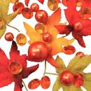 Floating Shades of Fall Leaves, Pearls & Sparkling Gems - Jumbo/Assorted Sizes Vase Decorations and Table Scatter + Includes Transparent Water Gels for Floating The Pearls