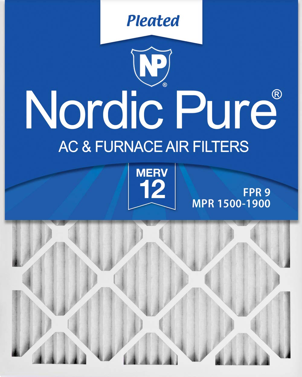 Nordic Pure 18x25x1 MERV 12 Pleated AC Furnace Air Filters, 18x25x1M12-6, 6 Pack