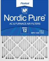 Nordic Pure 12x18x1 MERV 12 Pleated AC Furnace Air Filters, 6 Pack, 6 PACK, 6 PACK