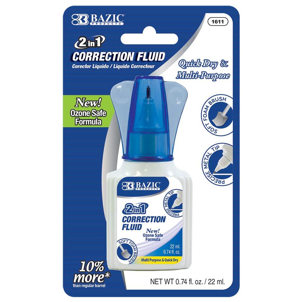 BAZIC 22ml 2 in 1 Correction w/Foam Brush Applicator & Pen Tip