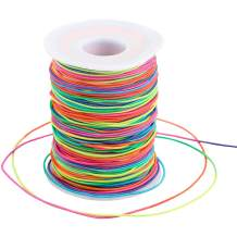 Elastic String Cord, 328 Feet 1mm Rainbow Elastic Thread Beading String Cord for Bracelets,Jewelry Making,and Arts Crafts