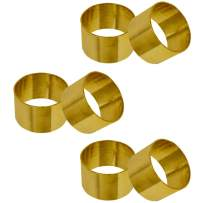 SKAVIJ Metal Solid Napkin Rings Set for Dining Table Decoration (Dia-1.5 Inch, Pack of 6, Gold)