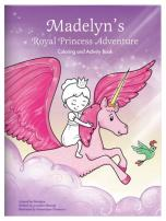 Coloring Book for Kids Toddlers Children Girls, Personalized Custom Name, Unicorn Fairy Princess