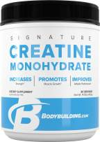 Bodybuilding Signature Micronized Creatine Monohydrate Powder   Muscle Builder   Promote Performance Recovery   400 Grams, 80 Servings