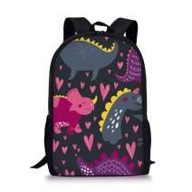 Advocator 3D Cartoon Dinosaur School Bag Preschool Backpack with Water Bottle Pockets School Bags for Kids