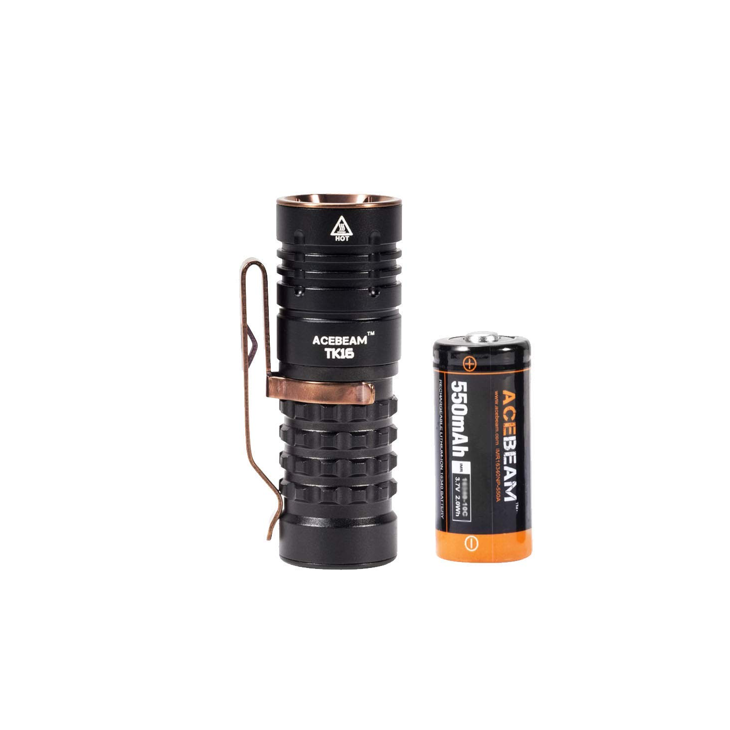 ACEBEAM TK16 Mini Flashlight w/Rechargeable Battery, Super Bright 1800 Lumens Cree LED EDC Flashlights