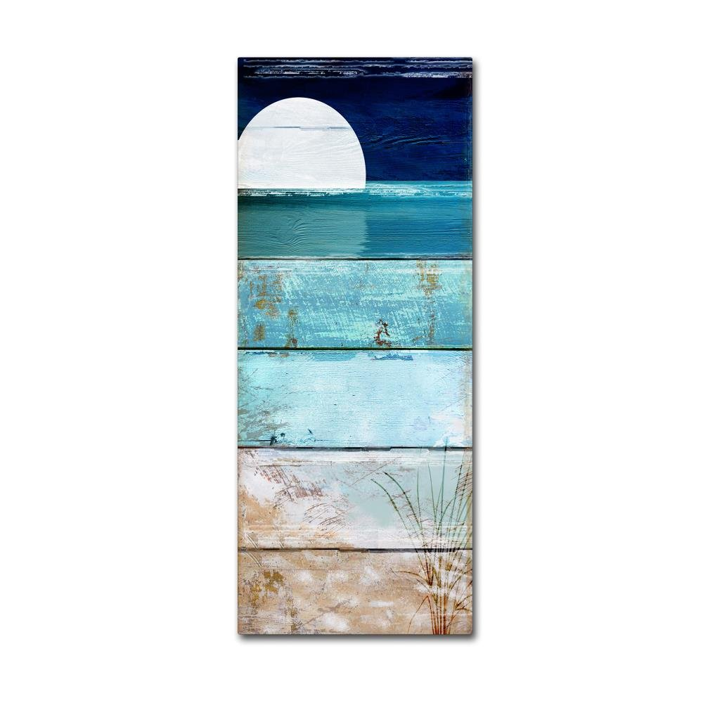 Beach Moonrise I by Color Bakery, 14x32-Inch Canvas Wall Art