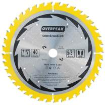 """OVERPEAK 7-1/4 Inch Circular Saw Blade Ultra Fine Finishing Trimming Crosscutting 40 Teeth Table Saw Blades with 5/8"""" Arbor"""
