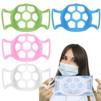 3D Face Bracket, Silicone Face Inner Support Frame for Comfortable, Face Guard Breathing Bracket Washable Reusable, Breathe Cup Nose Breathing Smoothly (Mixed color)