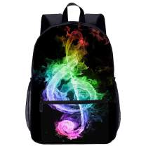 FeHuew Galaxy Music Note Backpacks Bookbag Shoulder Casual Daypack for 1-5th Grade Teens Girls